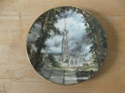 Crown Staffordshire Bone China Plate Advertising Salisbury Cathedral London