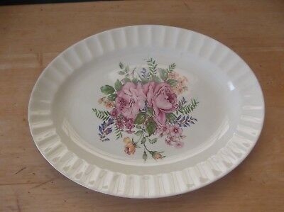 Vintage Knowles Pottery Picardy Pattern Oval Serving Platter