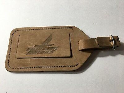 Vintage PIEDMONT Airlines Leather Luggage Baggage Tag