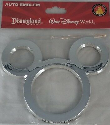 Disney Parks Mouse Ears Auto Emblem Adhesive Decal Car Vehicle Decoration - NEW