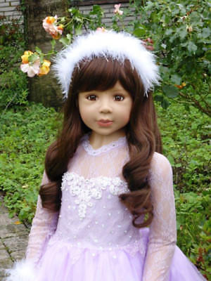 Masterpiece Dolls Snow Queen Brunette Wig, Fits Up To a 21-inch Head