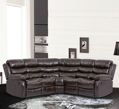 SECTIONAL SOFA RECLINER Sofa With Recliner 2 Reclining Seat For Home ...