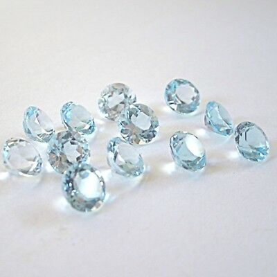 Wholesale Lot 5x5mm Round Facet Cut Natural Blue Topaz Loose Calibrated Gemstone