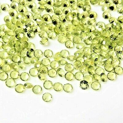 Wholesale Lot 5mm Round Facet Medium Grade Natural Peridot Loose Calibrated Gems