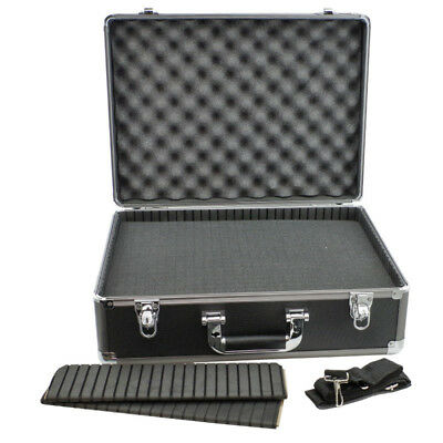 Universal Protective Case Gun Metal Grey Travel Case with Cubed Foam & Dividers