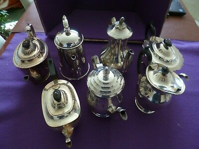 Special Clearance - Six Individual Vintage Silver Plate Serving Tea/coffee Pots