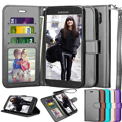 For Samsung Galaxy S7/S9/S10+ Wallet Leather Phone Case Flip Stand Holder Cover