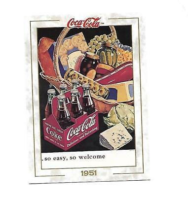 Coca Cola Collection (1993) 1951 # 60 so Easy So Welcome Six Pack Basket Goodies