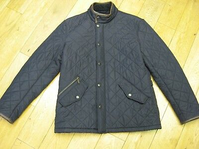 Barbour Powell Quilted Jacket Size:large Colour:black