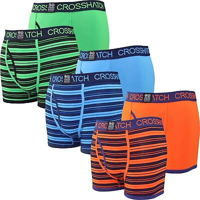 Mens Crosshatch Boxer Shorts Deckster 2 Pack Set Gift Underwear Trunks New 2018