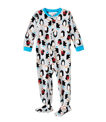 NWT ☀FOOTED FLEECE☀ CARTERS Boys Pajamas PENGUINS  New  YOU PICK 7   8   $30