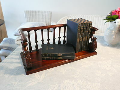Vintage Galleried Walnut Book Stand - V.g.c.