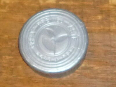 112  GOLD PEAK TEA SILVER PLASTIC BOTTLE CAPS  approx. 3 inches round   used