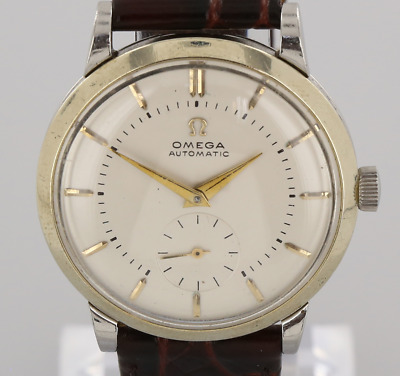 Vintage Omega Bumper Wristwatch Stainless Steel