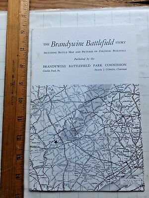 The Brandywine Battlefield Story. 1962 Booklet. Battle Map & Colonial Buildings