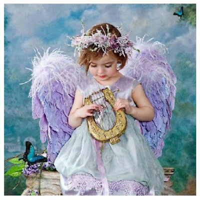 DIY 5D Cute Girl Angel Diamond Embroidery Wall Painting Cross Stitch Craft Decor