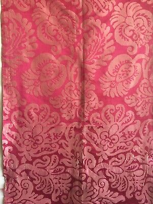 Antique Beautiful 18th C. French Silk Woven Jacquard Fabric (2394)