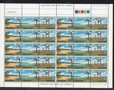 NORFOLK ISLAND 1979 CHRISTMAS 16 strips of 3, Mint Never Hinged