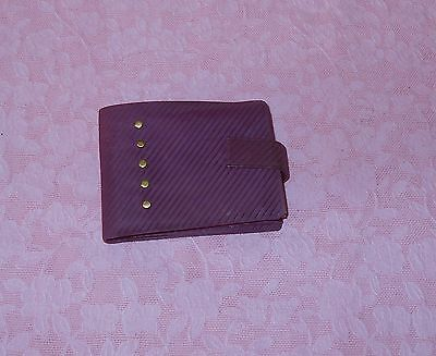 Great Vintage Unused Wine Color  Lady Buxton Cowhide Leather Convertible Wallet