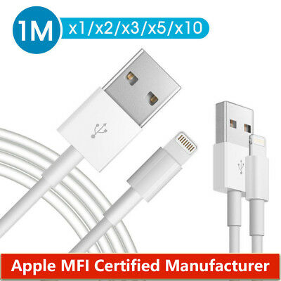1m USB Lightning Data Charging Cable for Genuine Apple iPhone 6 7 8 X iPad