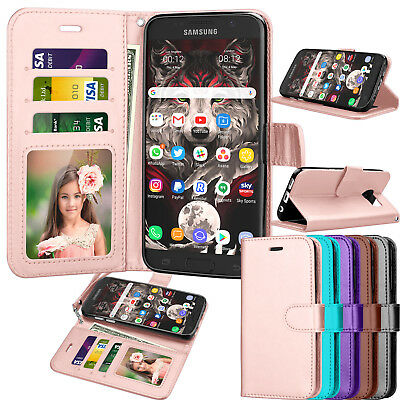 For Samsung Galaxy S7 Luxury Leather Wallet Case Flip Stand Holder Case Cover