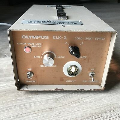 Olympus CLK-3 Cold Light Supply Source Powers On See Description