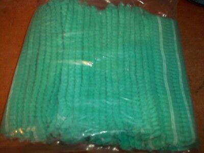 100 Arco Essentials LIGHT GREEN Mob Cap /hat one size disposable ideal spray tan