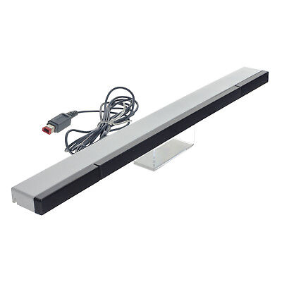 WIRED IR Infrared Ray Sensor Bar Receiver Signal For Nintendo Wii Wii U + Stand