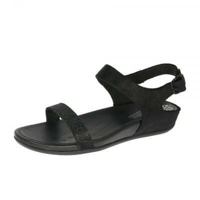 5f16efc1722f WOMEN S FITFLOP VIA Bar Sandals Black Luxe Suede Leather 209-001 US ...