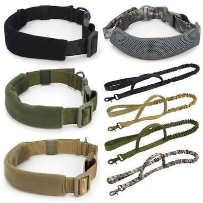 Adjustable Outdoor Tactical Dog Training Collar Handle or Leash Harness Strap