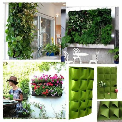 4/9/18/36 Pocket Vertical Growing Bag Hanging Wall Garden Plant Pot Planter Bags