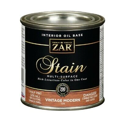 Zar 12906 Amber Varnish Wood Stain, 1/2 Pint