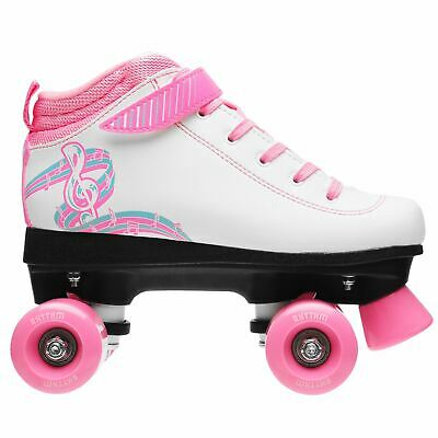 Rookie Kids Girls Rhythm Quad Roller Skates Junior Padded Ankle Collar Touch and