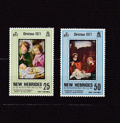 New Hebrides, British #149-150 Mnh Adoration Of The Shepherds