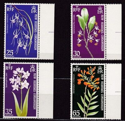New Hebrides, British #171-174 Mnh Various Orchids