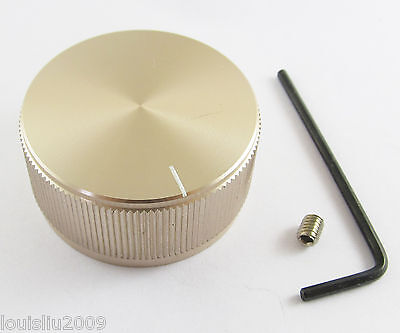 1pc High Quality Champagne Color Aluminum Audio Rotary pots Knob 40mmx19mm NEW