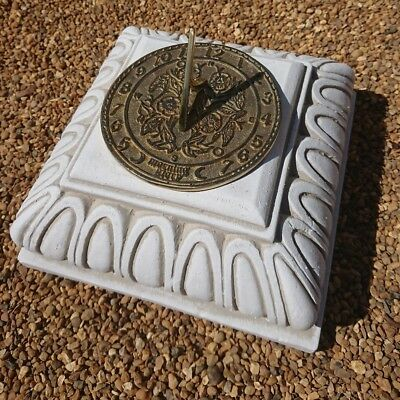 Garden Ornaments /& Accessories Concrete Octagonal Plinth Cream With Round Morning Glory Sundial