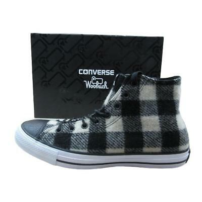 820a30f29008 Converse All Star Chuck Taylor Hi Top Woolrich Shoes Size 10 Black 153834C  New