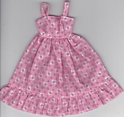 Doll Clothes-Pink With White Circles Print Sun Dress fits Barbie-Homemade SD1