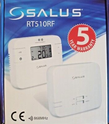 Salus Rt510Rf 5/2 7 Day Programmable Digital Wireless Room Thermostat Stat