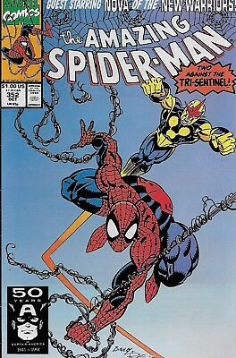 The Amazing Spider-Man (Vol.1) No.352 / 1991 Nova / David Micheline Mark Bagley