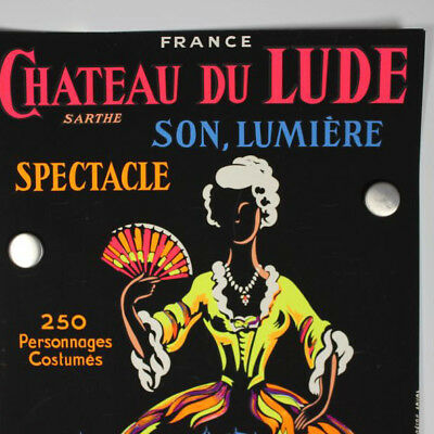 Chateau du Lude Spectacle 1963 Sarthe Poster Plakat 60er Jahre Frankreich