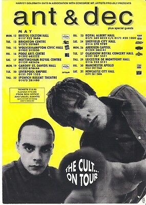 Ant and Dec Tour flyer