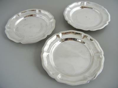 Set 3 Vintage Small Plates Sterling Sanborns Mexico Coasters 193 Grams