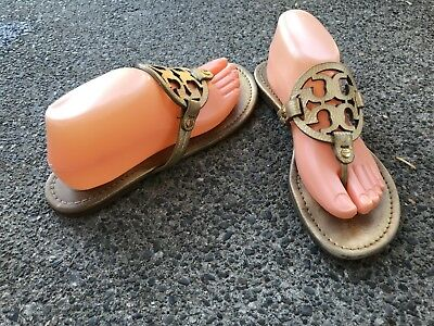 f3982fc5012c Tory Burch Size 9 M US Women s Miller Brown Patent Leather Slides Thong  Sandals