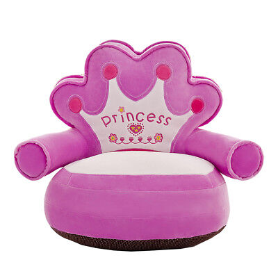 Kids Crown Chair Soft Armchair Sofa Seat Cover Bedroom Playroom Decor #4