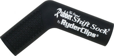Ryder Clips Rubber Motorcycle Shift Sock Shifter Cover Black