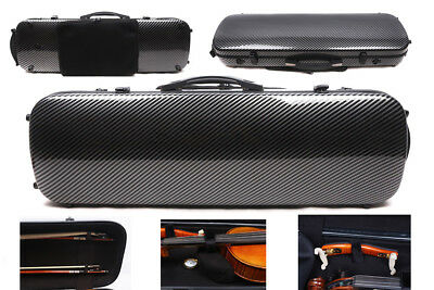 Yinfente 4/4 violin Case mixed Carbon fiber Hard case Light with Music sheet bag