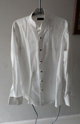 "Pierre Cardin Vintage Style Mens Tuxedo Smart Dress Wing Collar Shirt 15.5 48"" L"