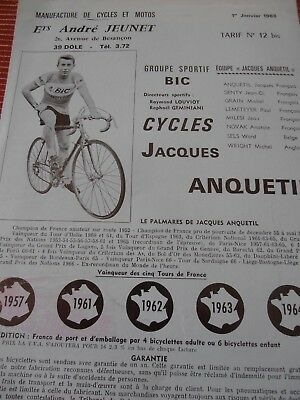 Catalogue / Pub  Velo Cycle Vintage Anquetil 1968 ( 29 )
